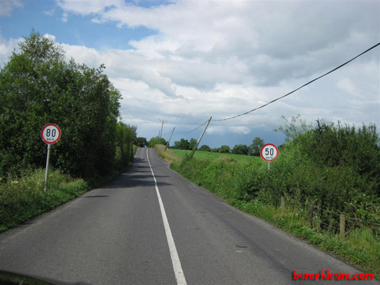 irish speed signs