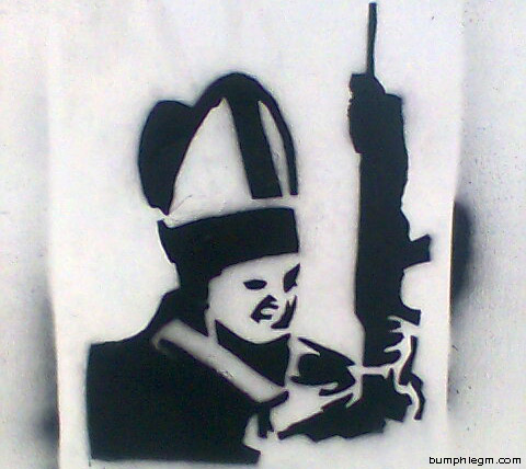 machine gun pope